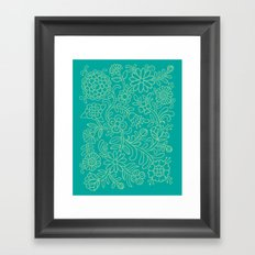 Green Blooms Framed Art Print