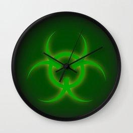 Bio Hazard Sign Wall Clock