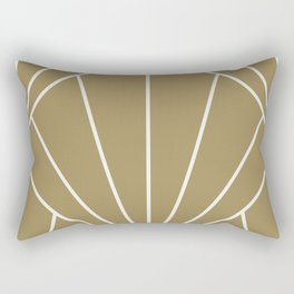 Diamond Series Sun Burst White on Gold Rectangular Pillow