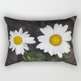 Old And Young Daisies Texture Rectangular Pillow