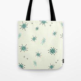 Mid Century Stars Retro Vintage Pattern Tote Bag
