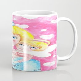 Whimiscal Girl with Angel on Shoulder Coffee Mug