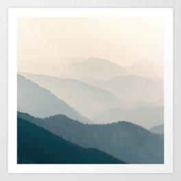 Warm Mountain Sunshine Art Print