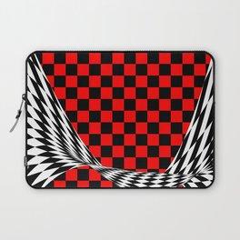 Schwarz rot weiss Laptop Sleeve