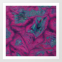 Asia Dragon Scales Art Print