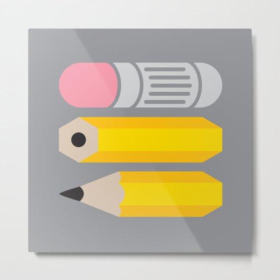 Deconstructed Pencil Metal Print
