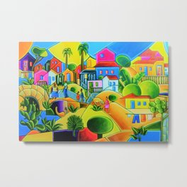 Morro da Favela by Tarsila do Amaral Metal Print