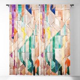 Pastel Tile Mosiac 1 Blackout Curtain