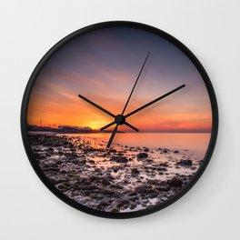 Sunset View over Montauk New York. Wall Clock