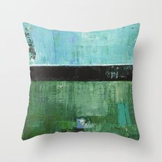 Sky Blue Sky Contemporary Abstract Landscape McNulty Throw Pillow