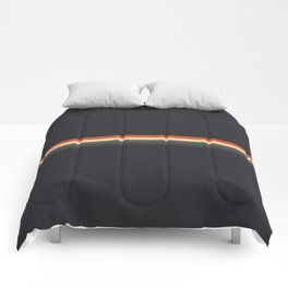 Fujitaka - Classic Dark Retro Stripes Comforters