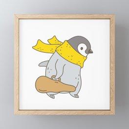 Penguin Violinist Framed Mini Art Print