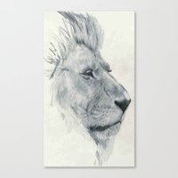 lions Canvas Prints featuring Lions. by Mighty Truth
