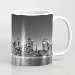 Brooklyn Bridge Black and White Coffee Mug