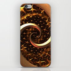Golden Spirals iPhone & iPod Skin