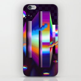 colorful labyrinth iPhone Skin