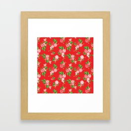Red Summer Rose Framed Art Print