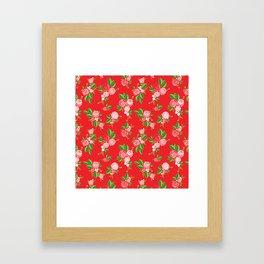 Red Summer Rose Framed Art Print