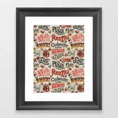 Naughty Words Framed Art Print