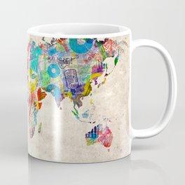 world map music art Coffee Mug