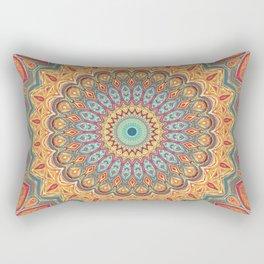 Jewel Mandala - Mandala Art Rectangular Pillow