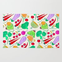 vegetables Area & Throw Rugs featuring Vegetables! by Niche Drawings