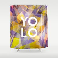 yolo Shower Curtains featuring Dreams of YOLO Vol.1 by HappyMelvin