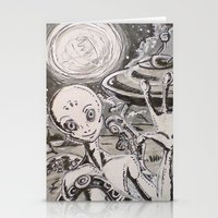 alien Stationery Cards featuring Alien by Ju.jo.weh