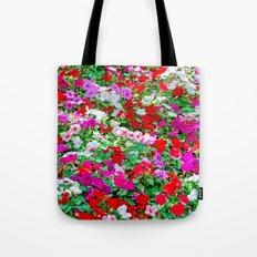 Colorful Petunia Flowers Tote Bag