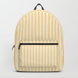 Classic Small Yellow Butter French Mattress Ticking Double Stripes Backpack
