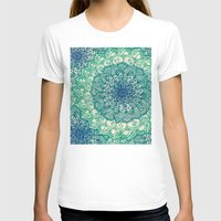 green T-shirts featuring Emerald Doodle by micklyn
