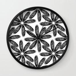 Ballpoint Flower Pattern Wall Clock
