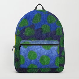 GREEN DOTS, A LITTLE ABSTRACT Backpack