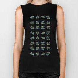 Atom Flowers #34 in blue and green Biker Tank