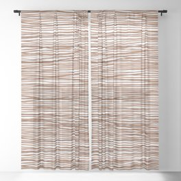 Discombobulated Stripes 1 Sheer Curtain