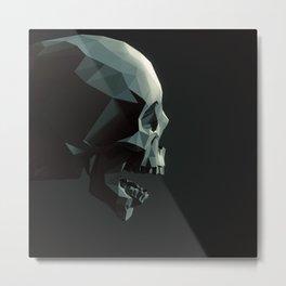 Skull roar - black Metal Print
