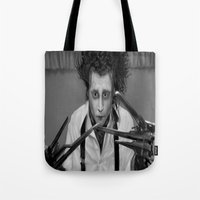 edward scissorhands Tote Bags featuring Edward Scissorhands by ururuty