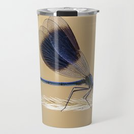 Banded Demioselle On Grass Travel Mug