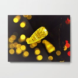 Christmas lights closeup Metal Print