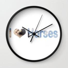 I <3 Horses Wall Clock