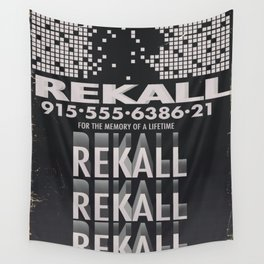 Rekall ( Total Recall ) Vintage magazine commercial. Wall Tapestry