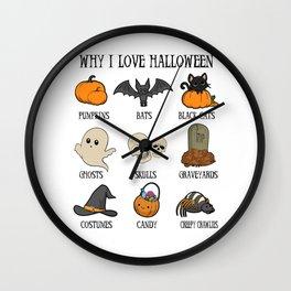 Halloween pumpkin skull spirit Creepy gift Wall Clock