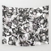 orchid Wall Tapestries featuring orchid by GYYO