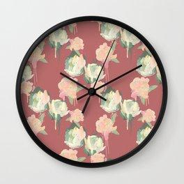 Painted Roses by Katrina Ward Wall Clock
