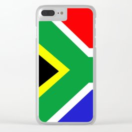 Flag of South Africa Clear iPhone Case