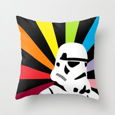 After the Storm... Rainbow Trooper Throw Pillow