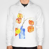 lanterns Hoodies featuring Chinese Lanterns by Kate Havekost Fine Art
