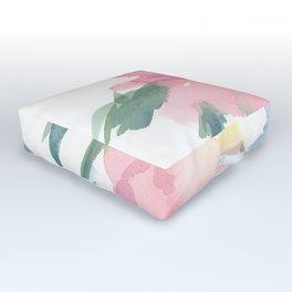 Flower, Watercolor Outdoor Floor Cushion