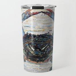 Blue Crab Collage by C.E. White Marine Life Travel Mug