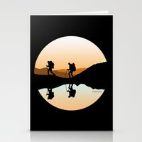 hiking Stationery Cards featuring HIKING by Şemsa Bilge (Semsa Fashion)